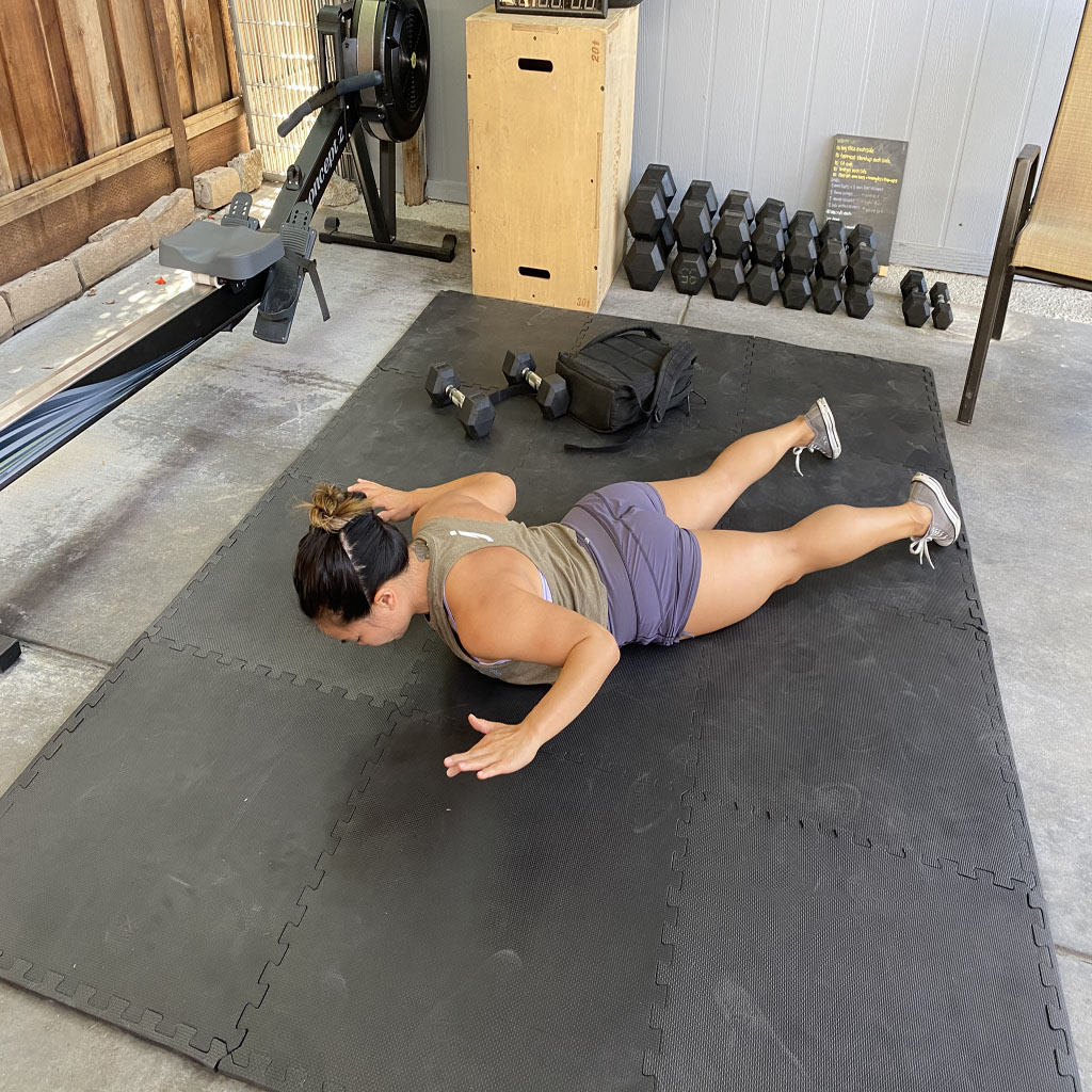 Prone Shoulder Press