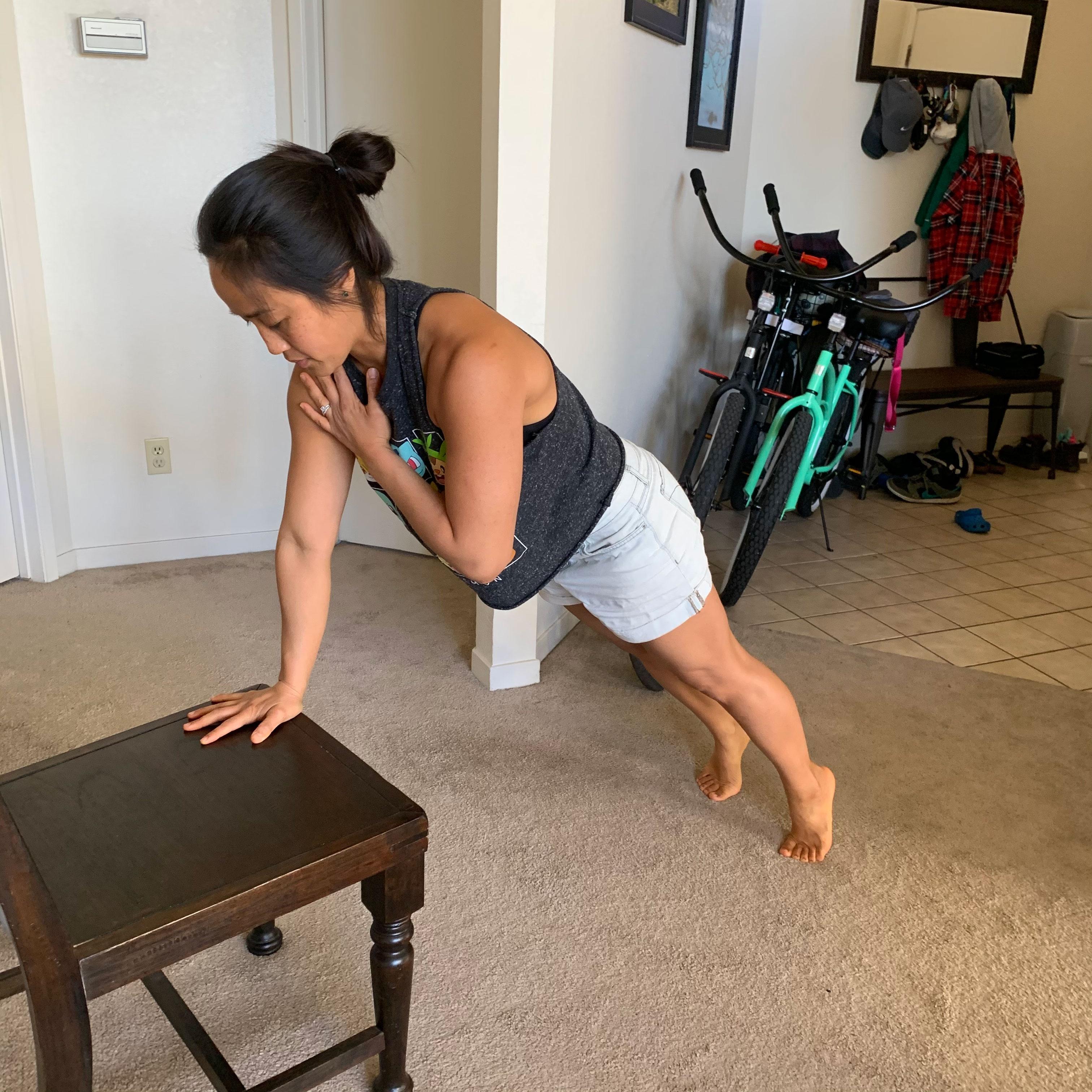 Elevated Plank Shoulder Taps