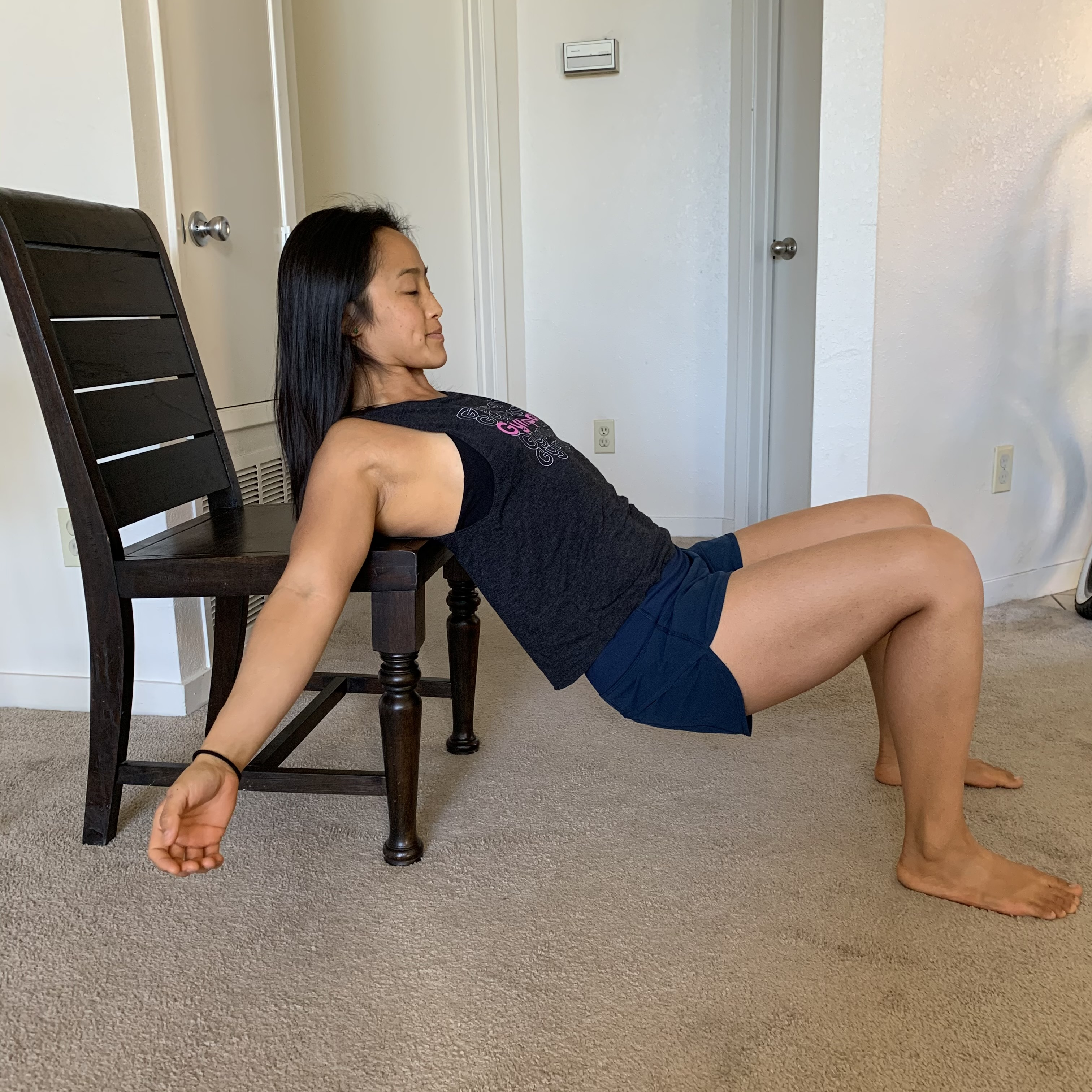 Back Supported Glute Bridges