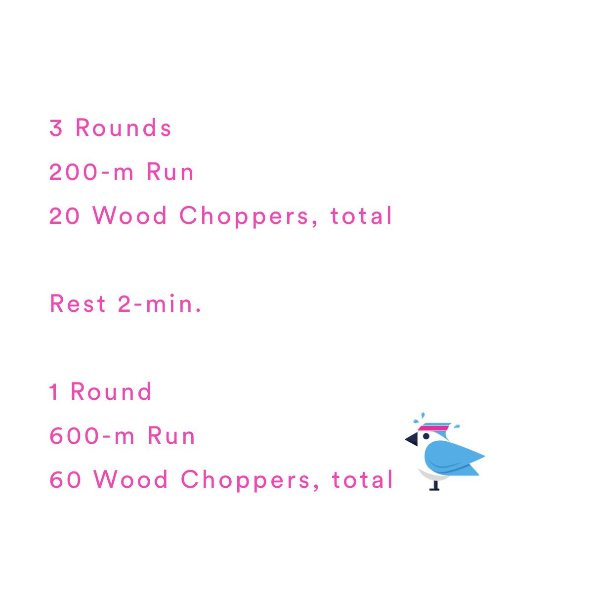 2021-03-23 Run, Chop, Repeat. 🪓 by Coach Janet