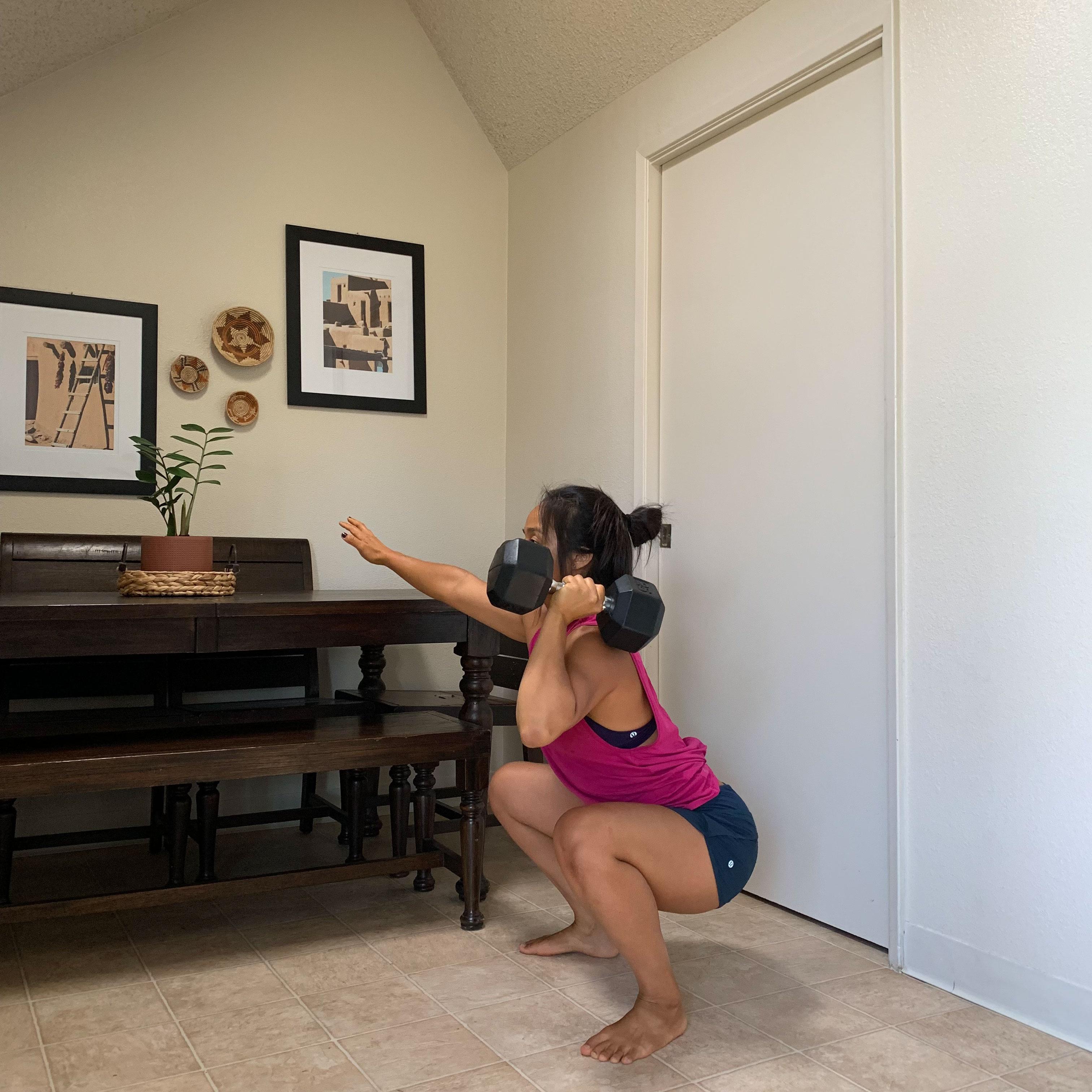 Single-arm Squat Cleans