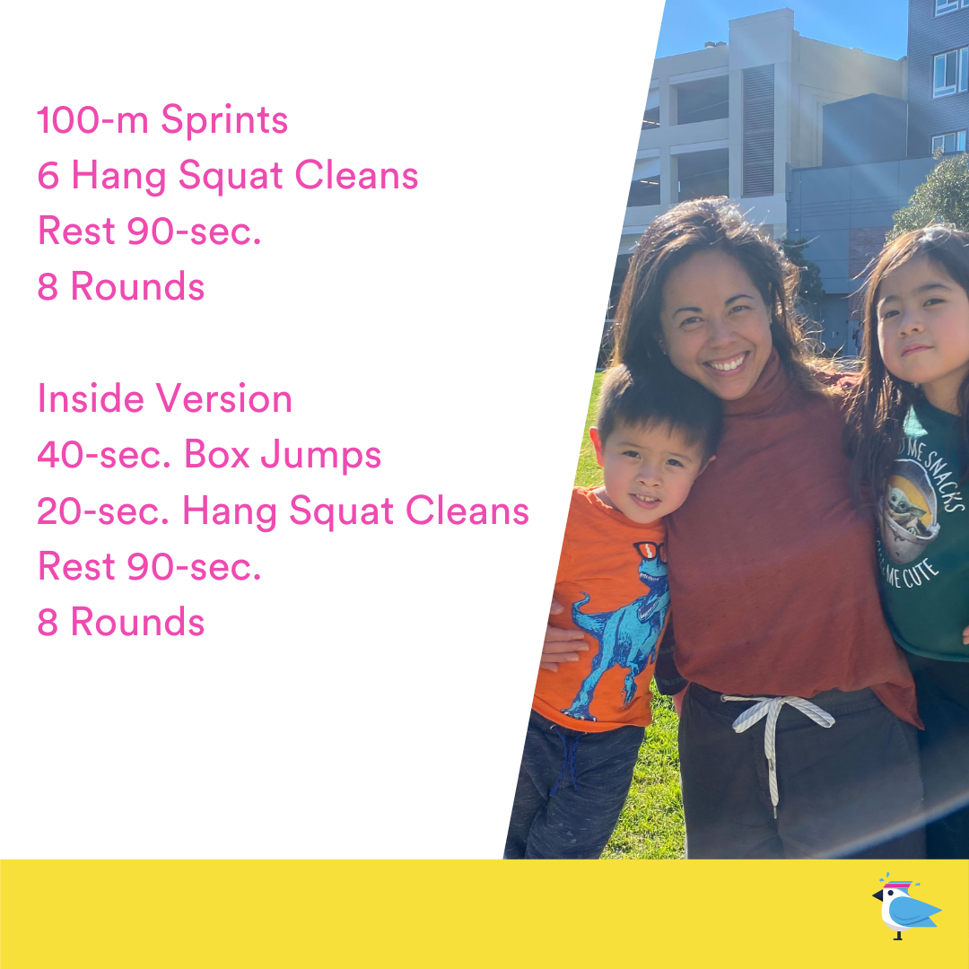 Sprints AND Hang Squat Cleans?? Helllllo 🍑