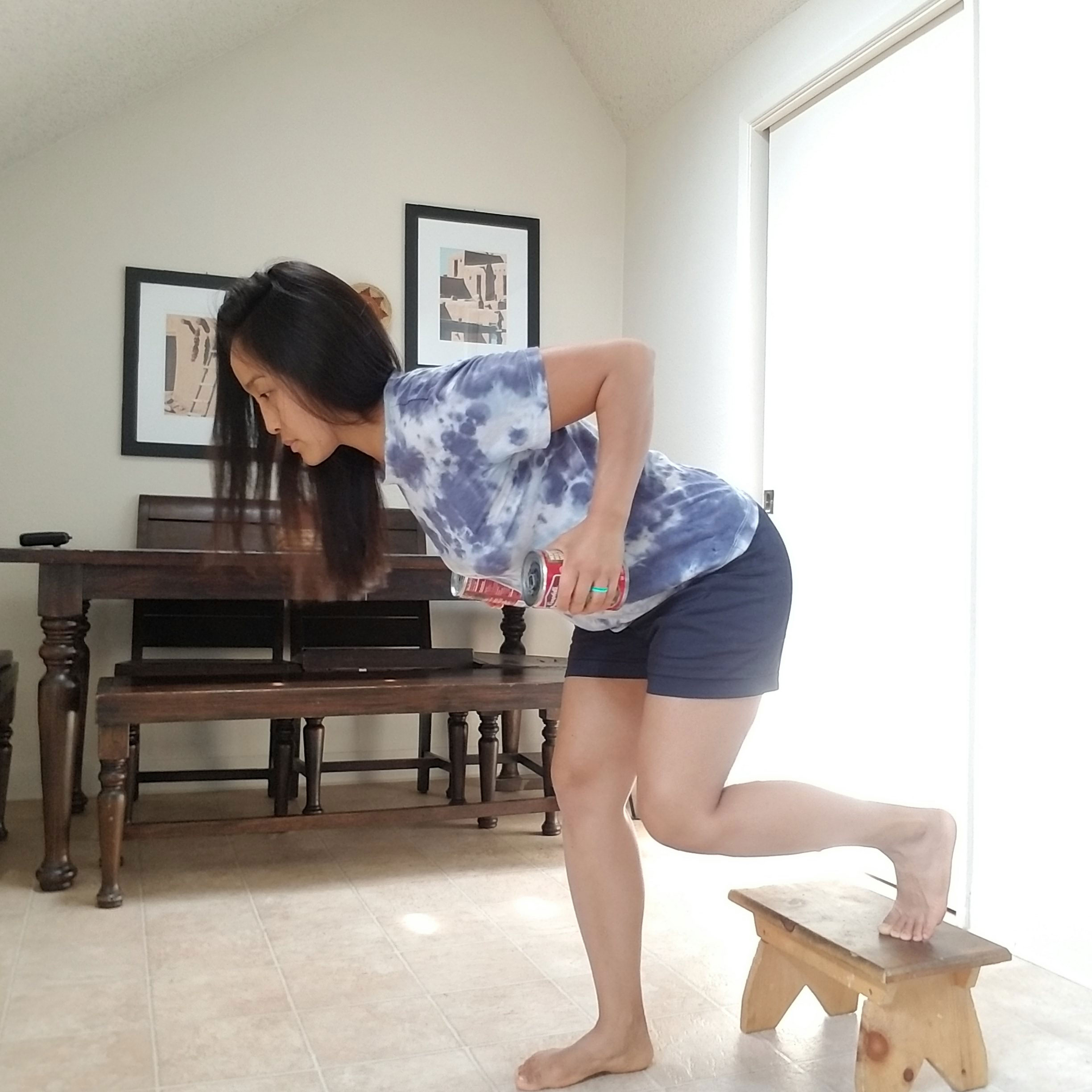 Rear-foot Elevated Bent Over Row