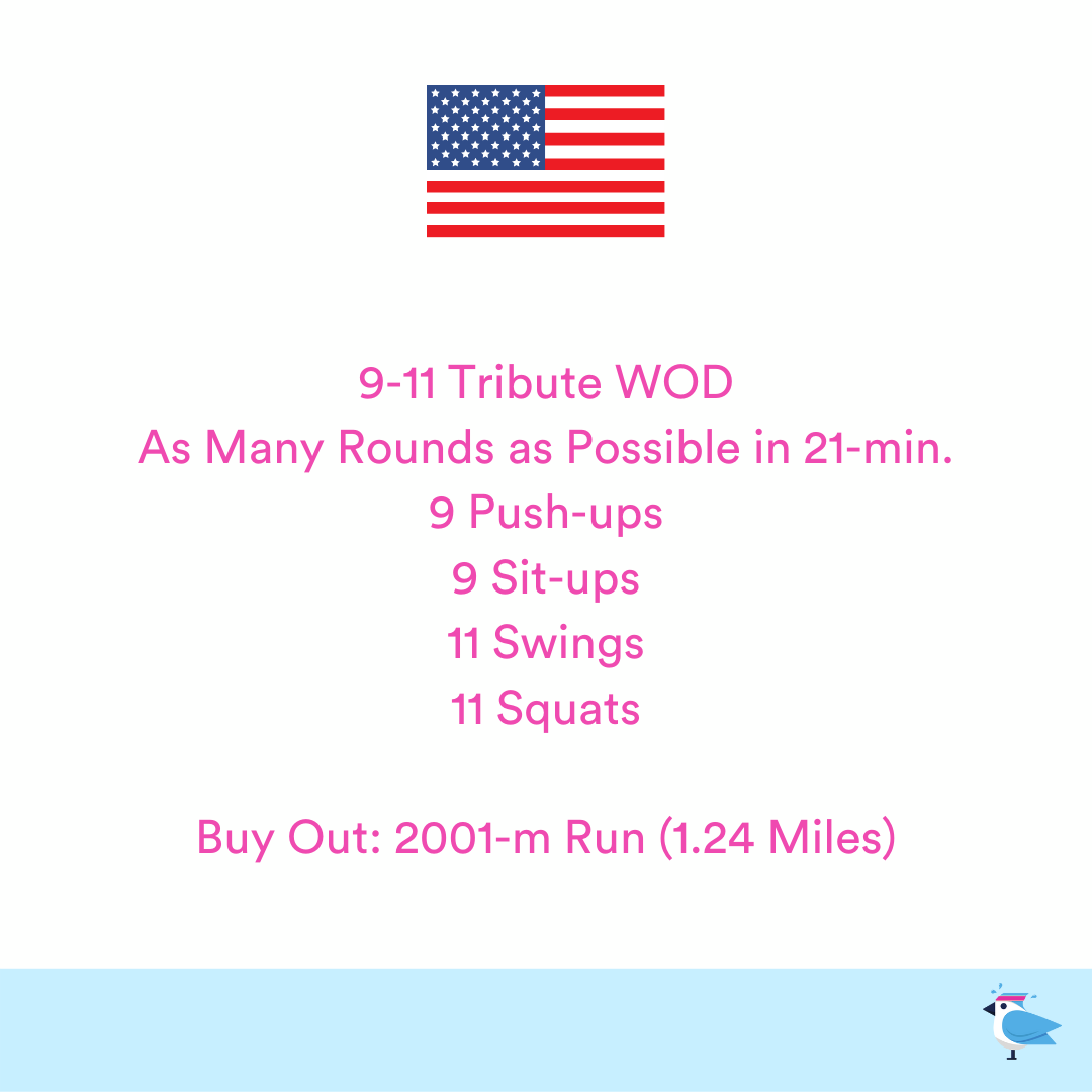 2021-09-11 9/11 Tribute Workout by Coach Janet