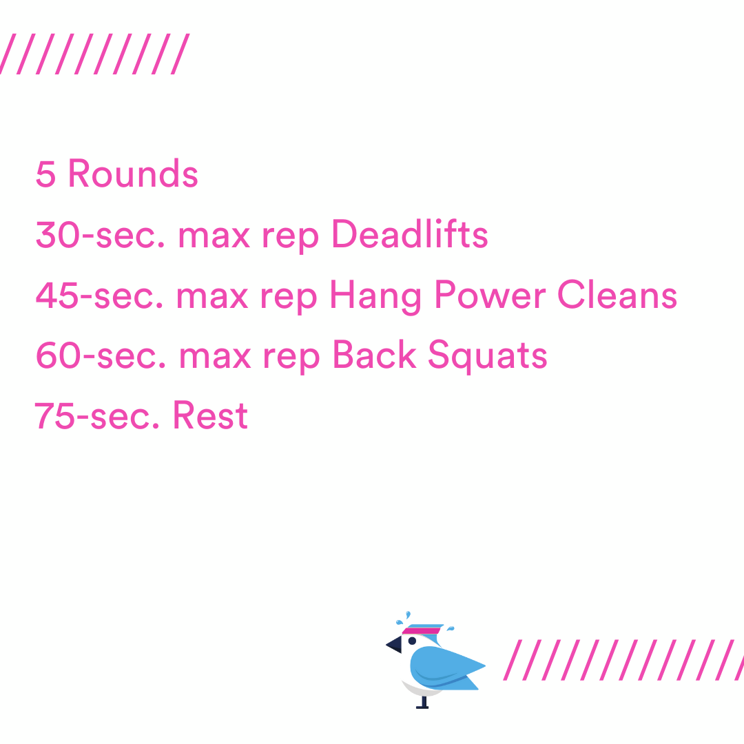 Today's workout is a different take on a complex.
