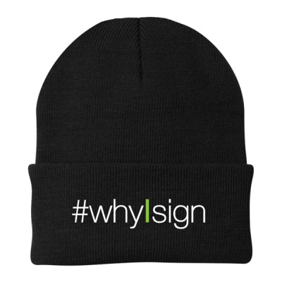 #whyIsign Beanie Knit