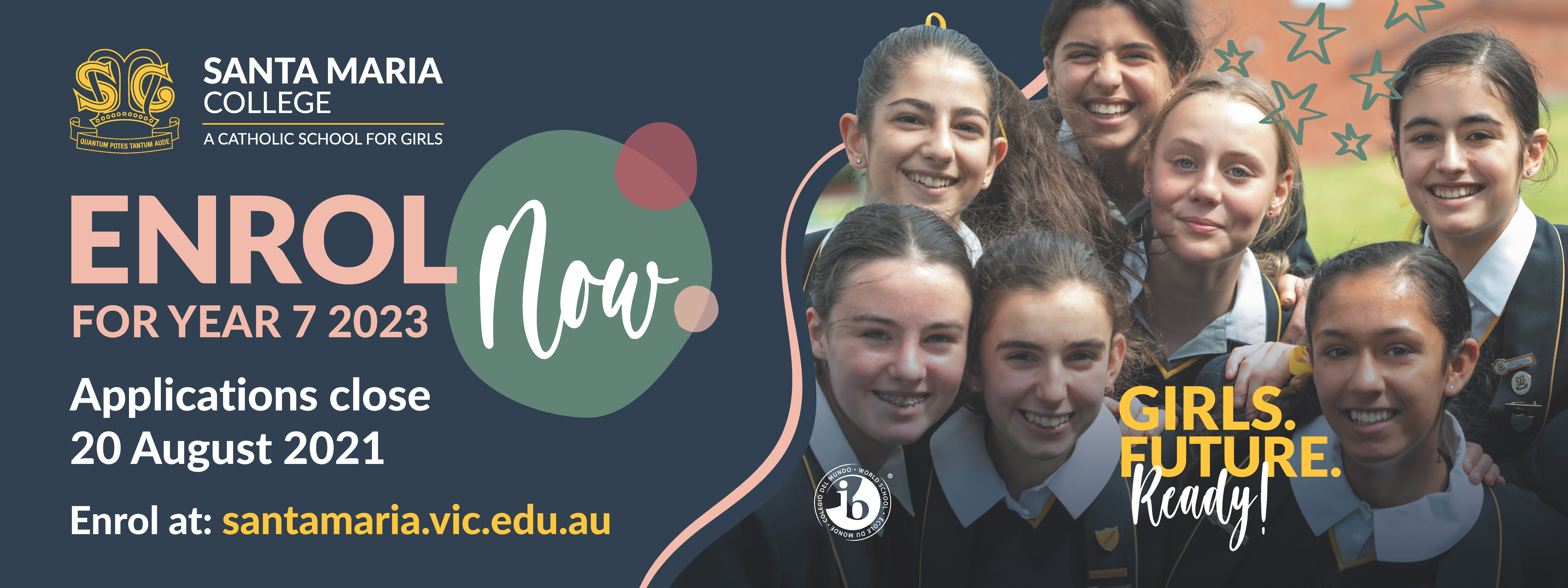 Enrol Now for Year 7 2023