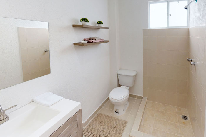 Cuarto de baño casa Palmas Yucatán