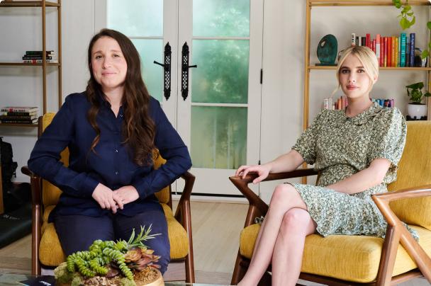 Karah Preiss and Emma Roberts host the Belletrist book club on BookClub.