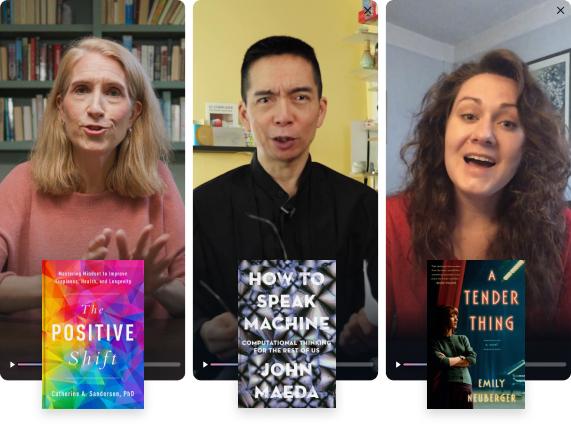 Authors Catherine A. Sanderson, John Maeda and Emily Neuberger on BookClub