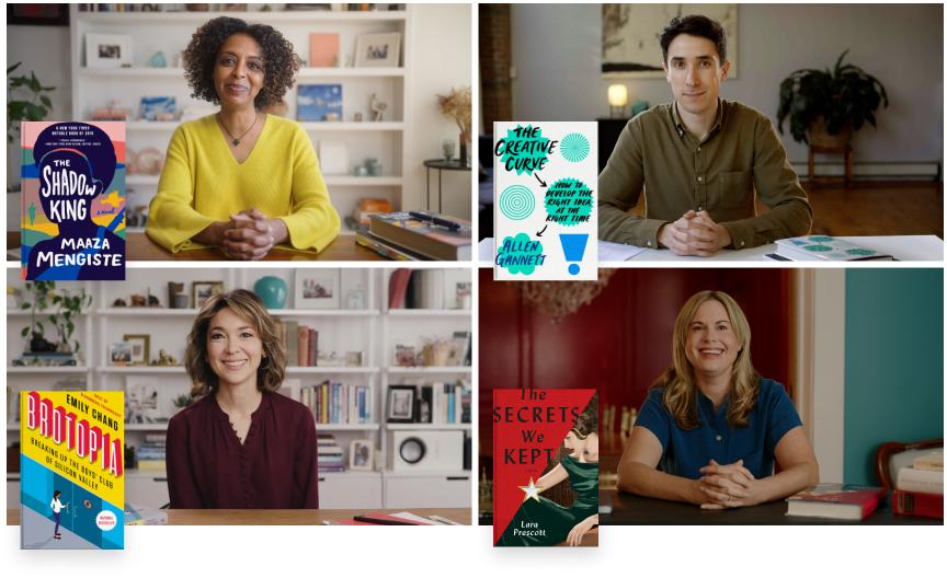 Authors Maaza Mengiste, Allen Gannett, Emily Chang and Lara Prescott on BookClub.