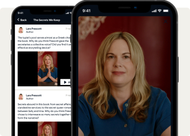 Image of BookClub mobile app.