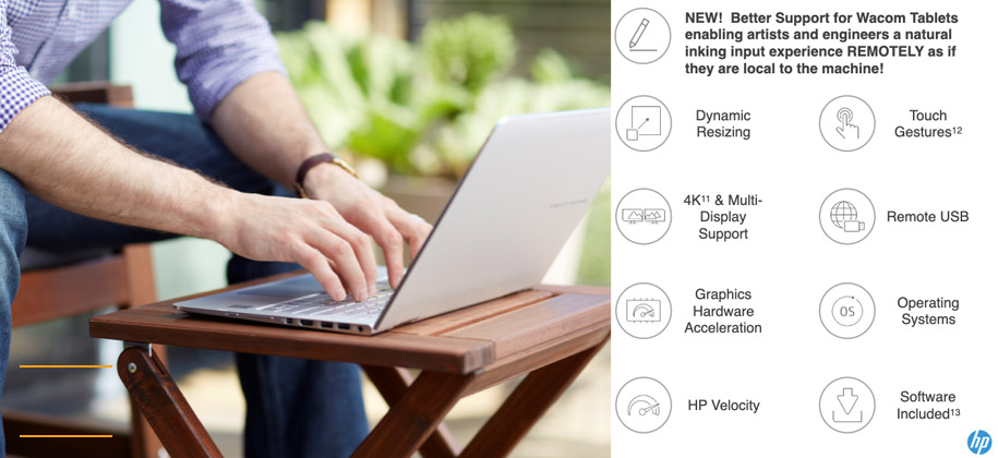 A graphic show dynamic support for Wacom Tablets.