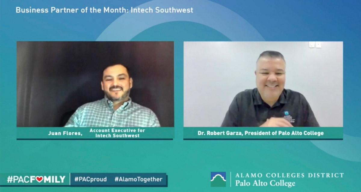 Screenshot of Juan Flores and Dr. Robert Garza