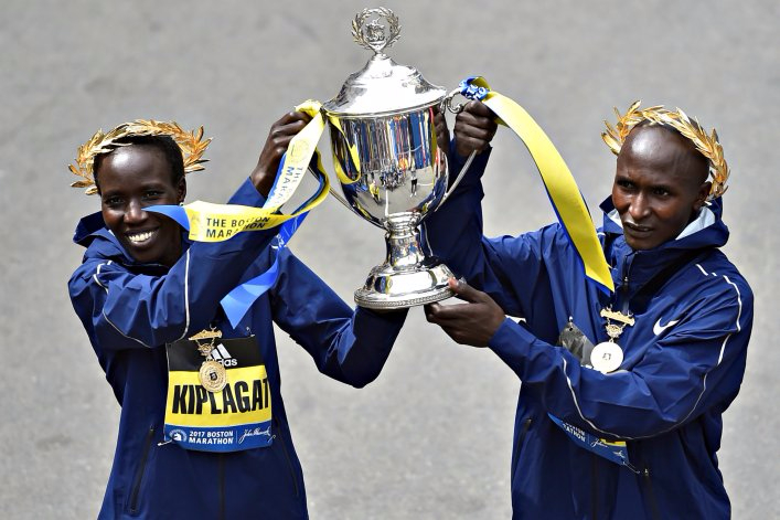Series X ends in style as Kenyan and Swiss athletes own Boston podium
