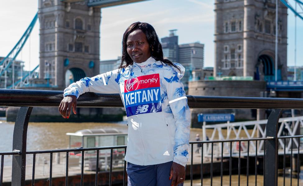 Keitany takes title despite London struggles