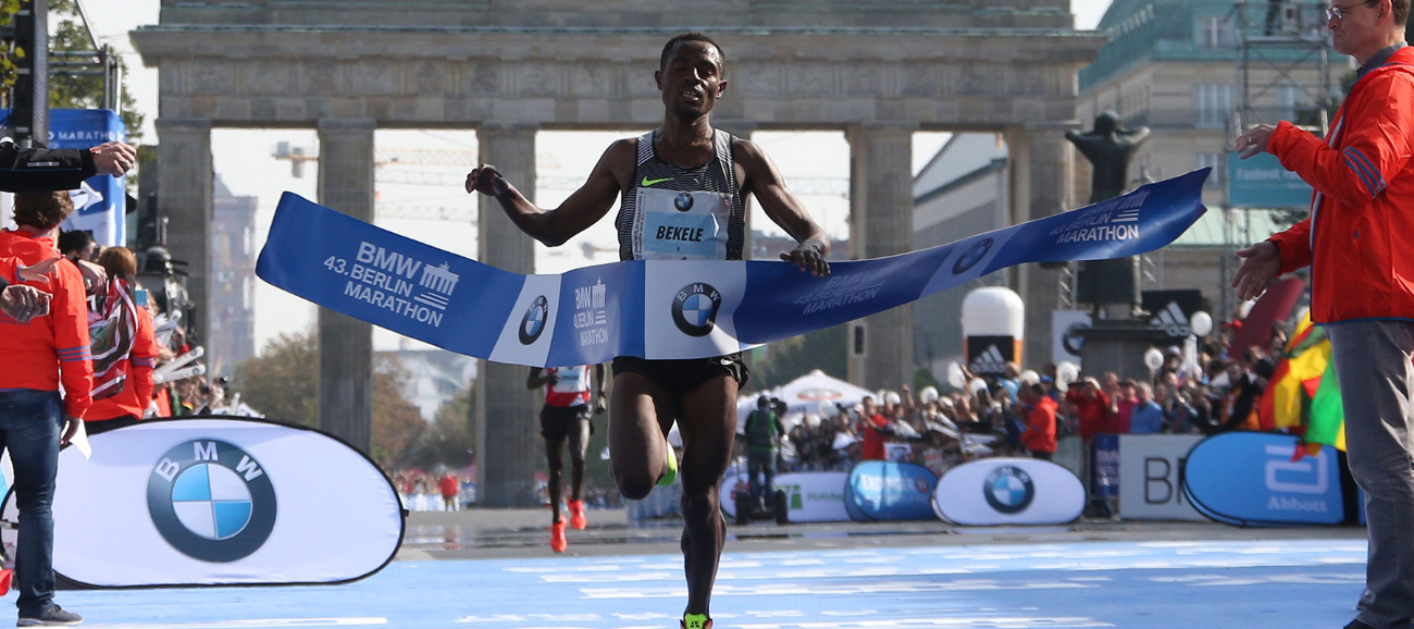 Kenenisa Bekele challenges Eliud Kipchoge and Wilson Kipsang at the Sept. 24 BMW BERLIN-MARATHON