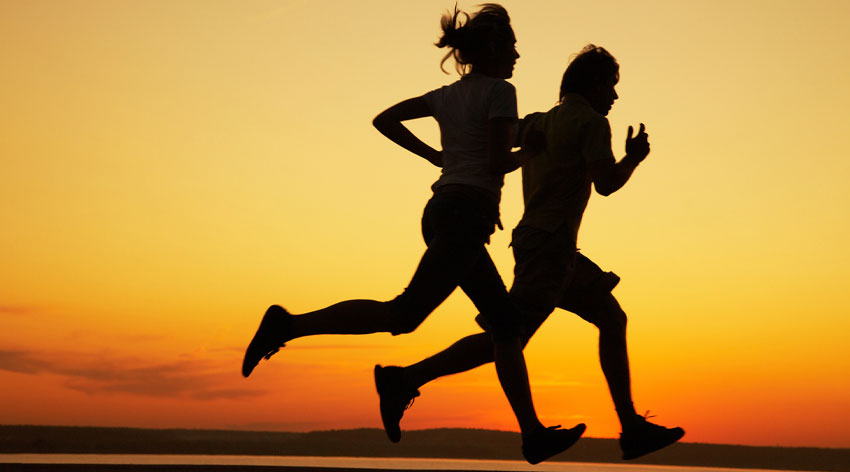 The runner's advantage
