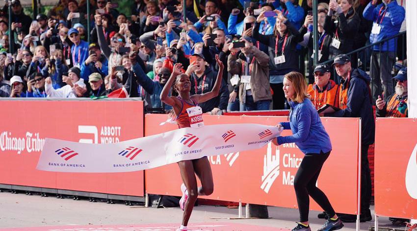 Kosgei smashes the world record