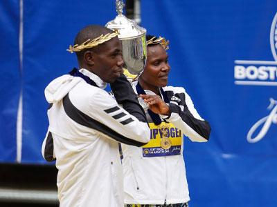 Kenyan double for Boston's 125th