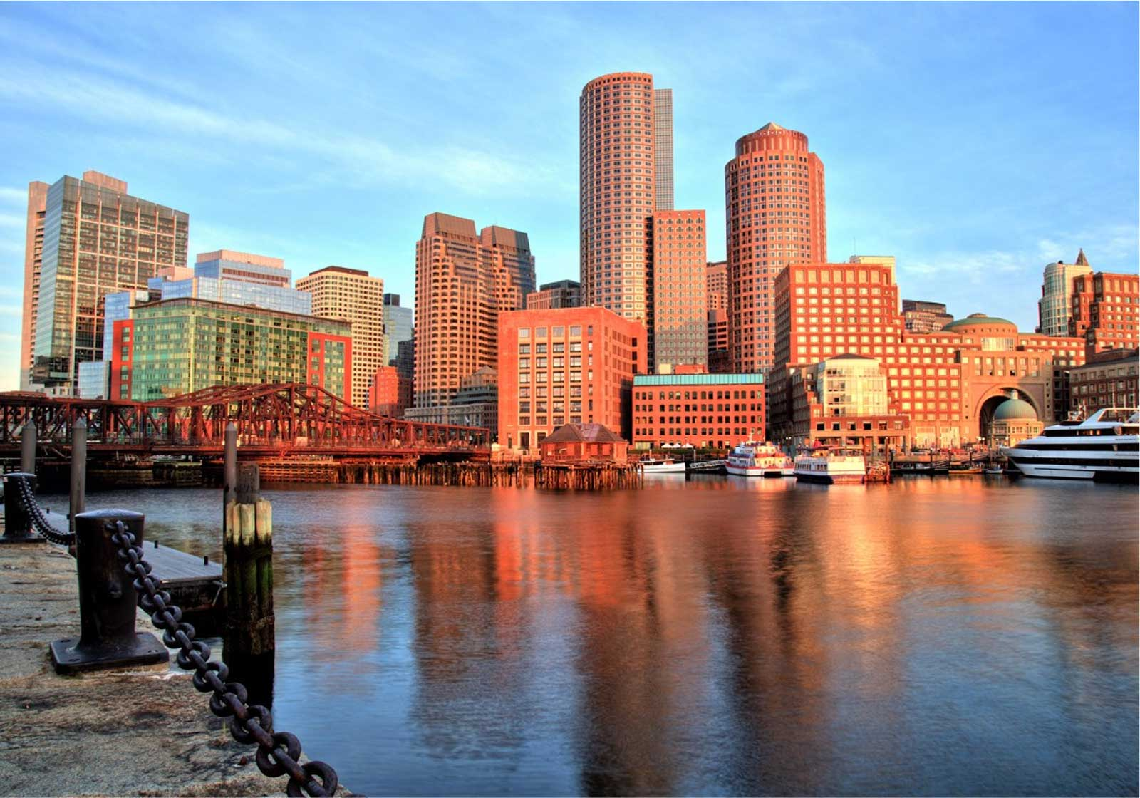 Boston Marathon city landscape
