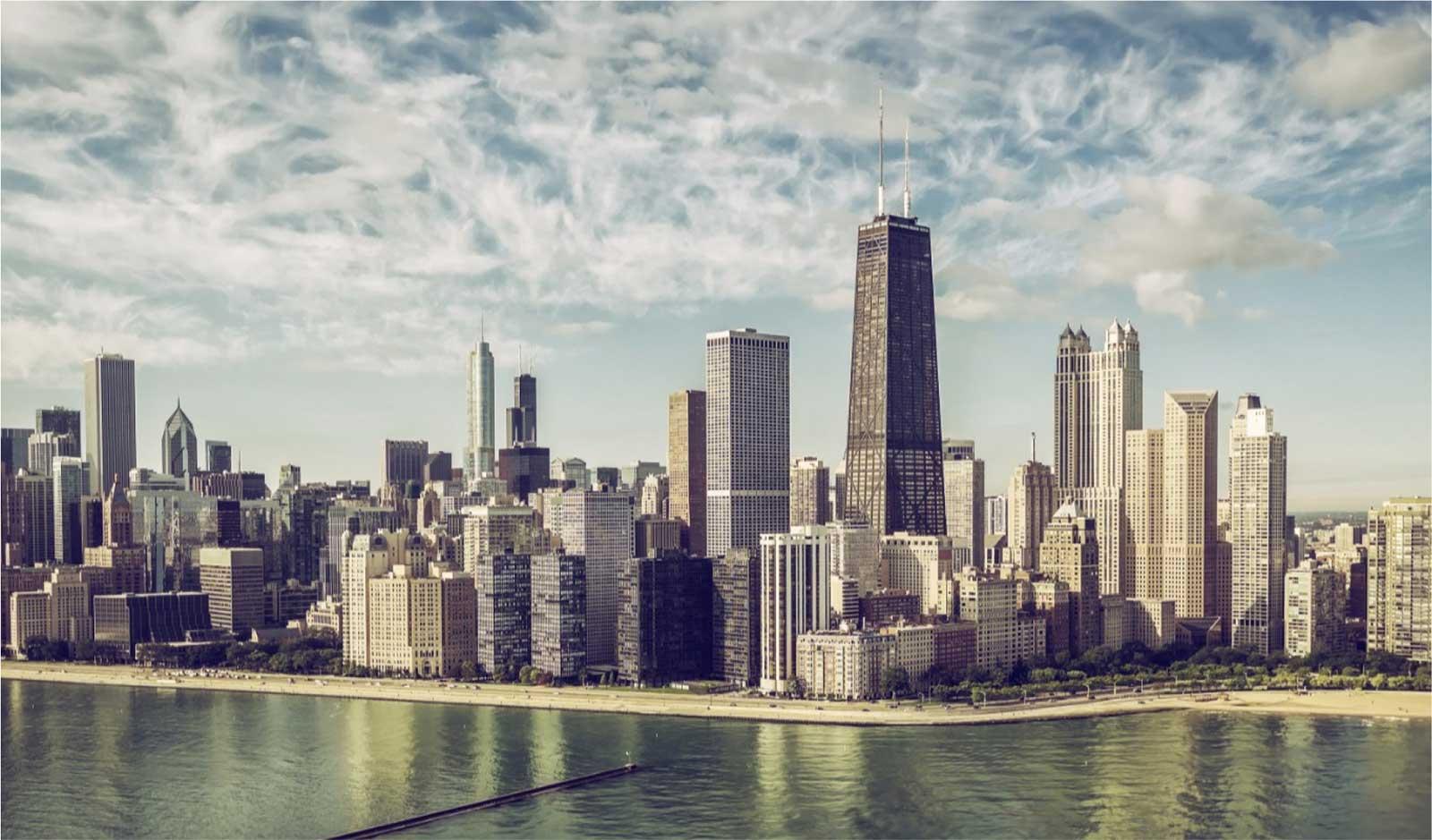 Chicago Marathon city landscape