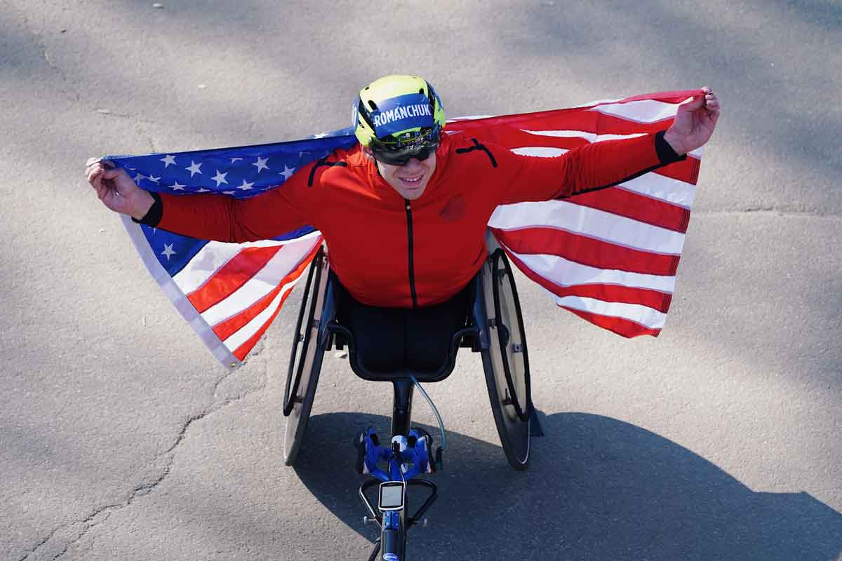 Daniel Romanchuk with USA flag