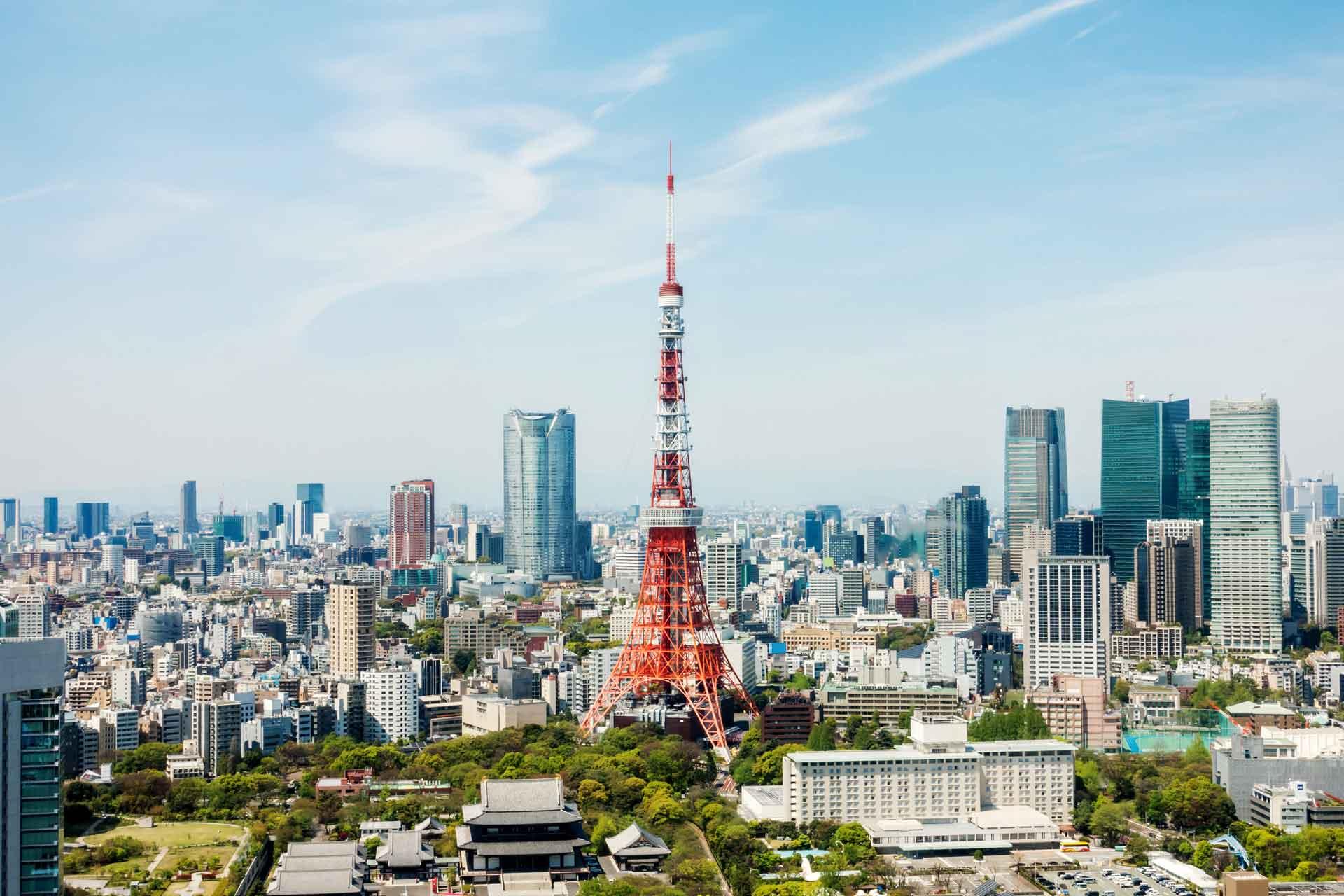 Tokyo Marathon city landscape