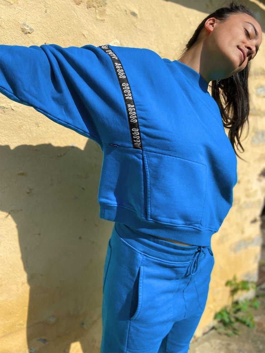 blue agogo outfit