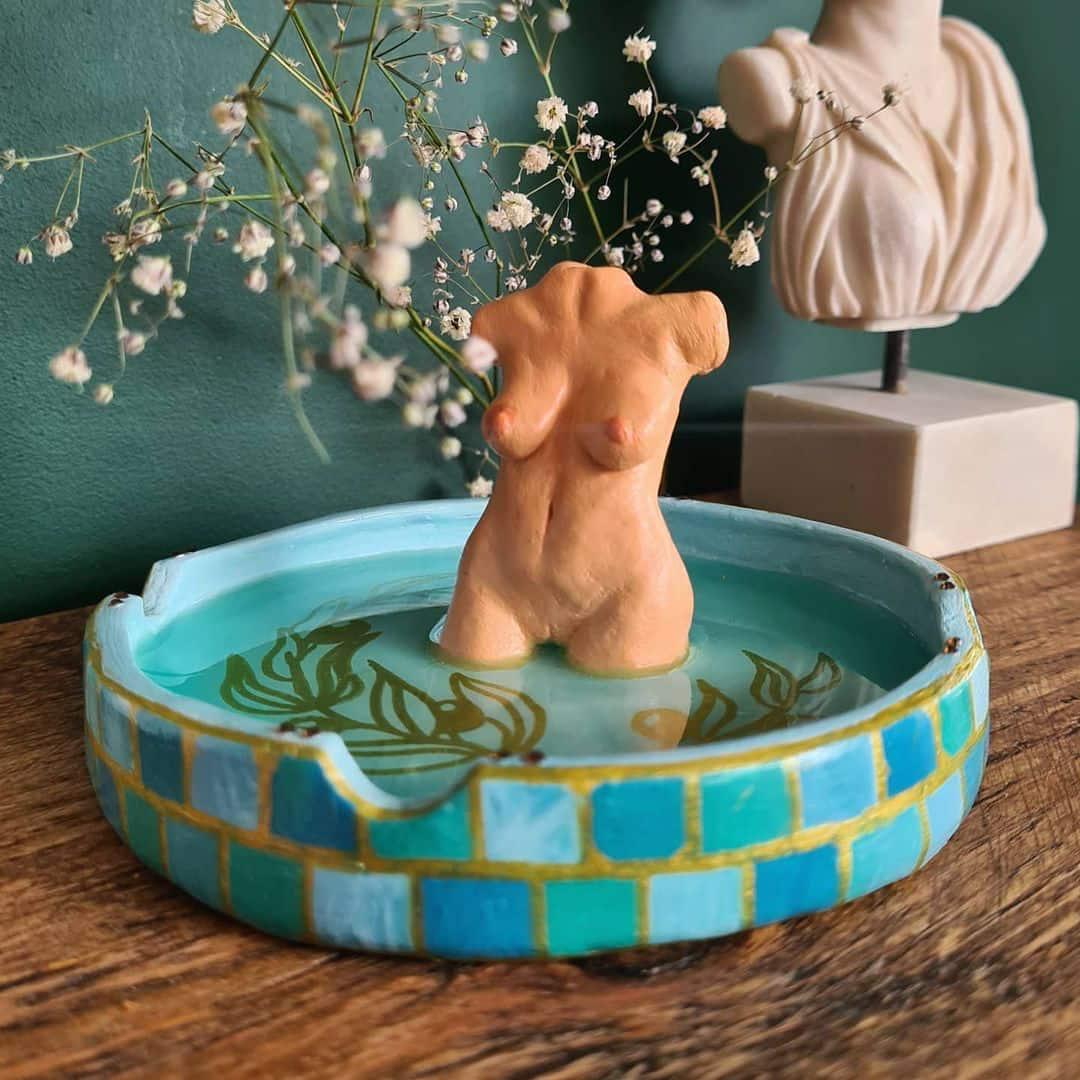 Lorna Boob Haus artist sculptor England boobs clay body positive
