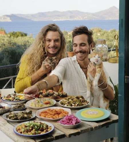Authors, chefs, husbands, animal and human rights activists, Kristóf and Nimi do it all and they often do it together.