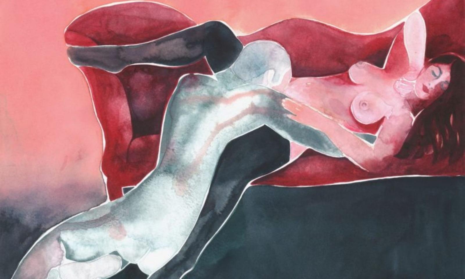 Discover Tina Maria Elena Bak's Sensual Watercolor Paintings