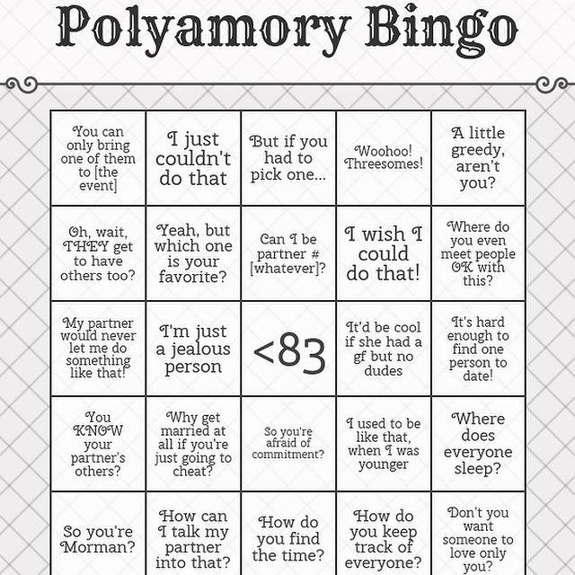 being lgbt polyamory bingo