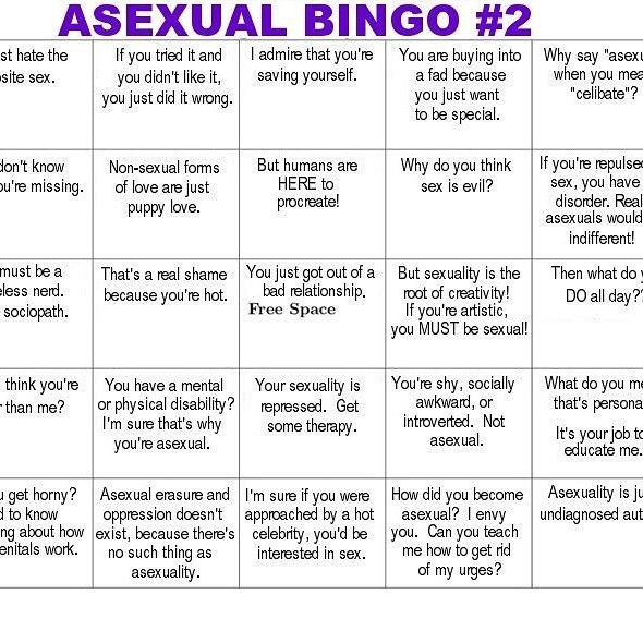 being lgbt asexual bingo