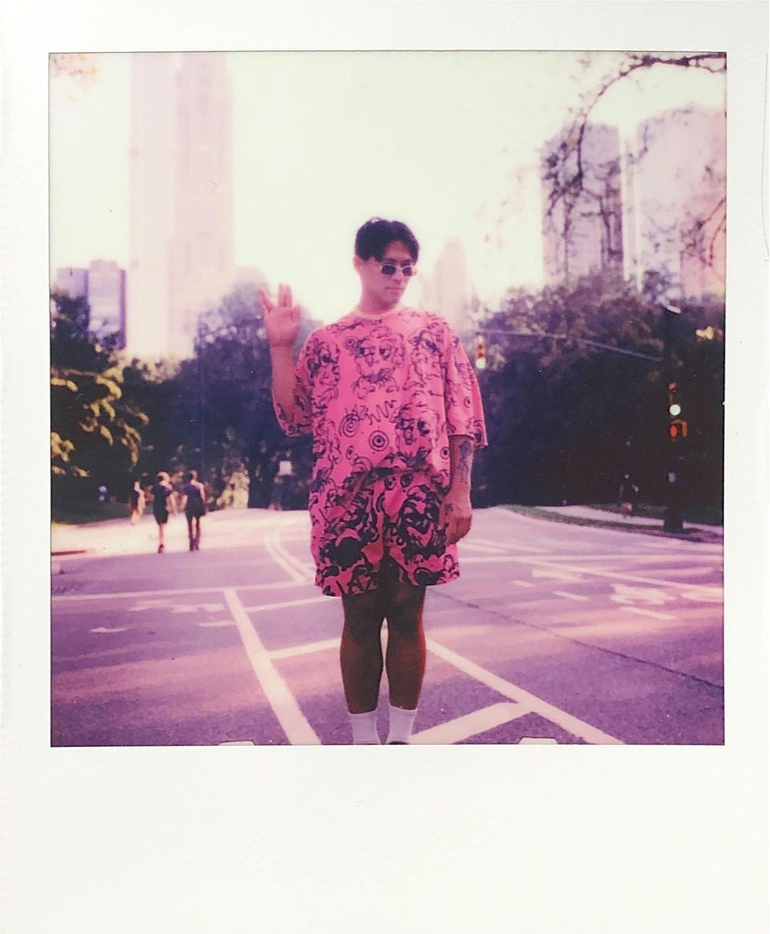 Ryan Rudewicz polaroid pink outfit