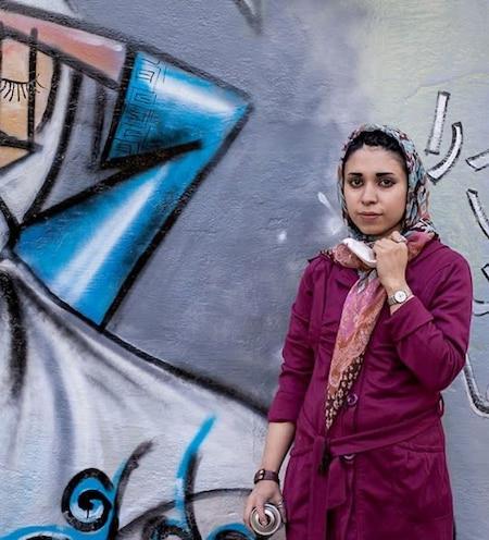 Shamsia Hassani Afghanistan first female street artist graffiti kabul painting empowering women art taliban