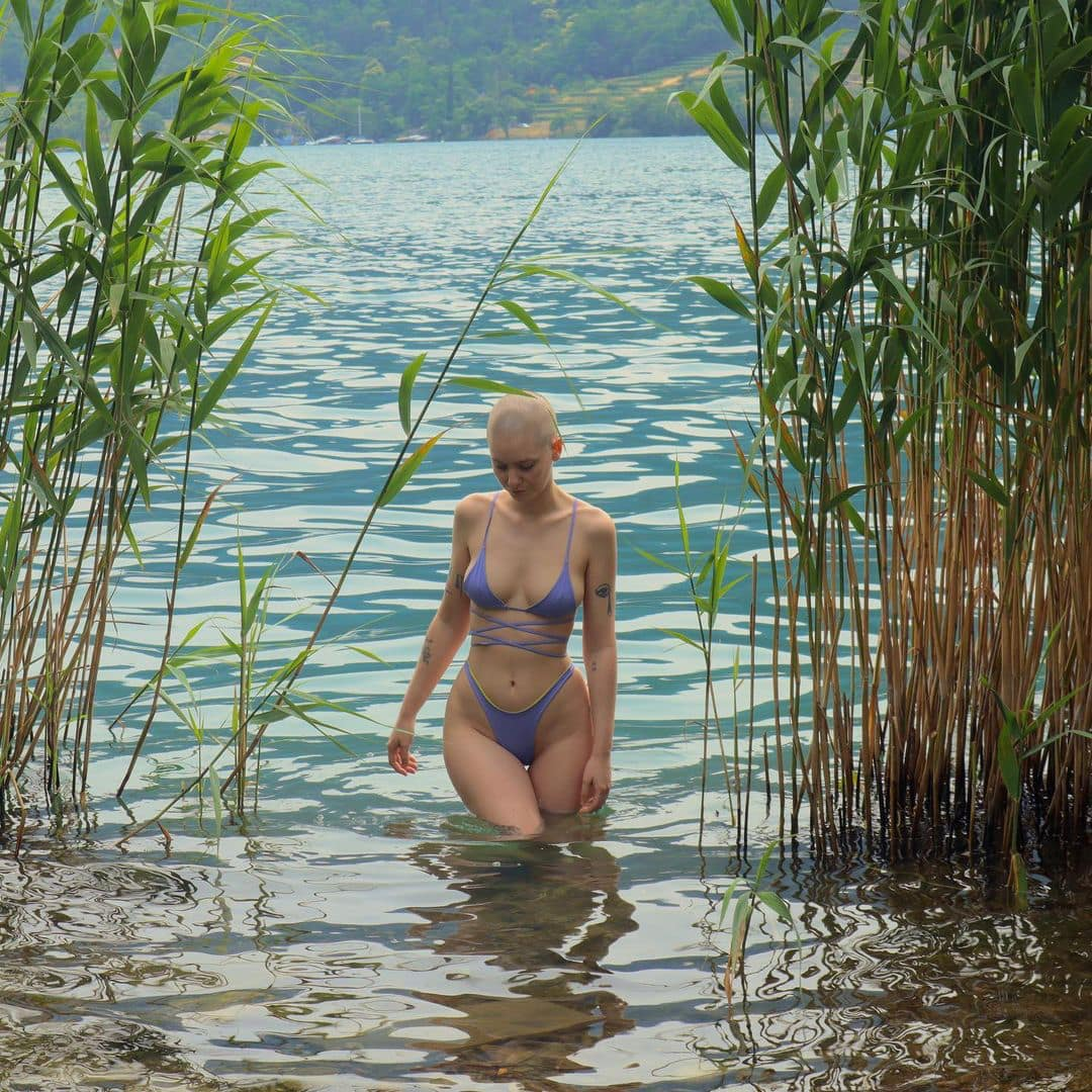 sophie hepp purple bikini