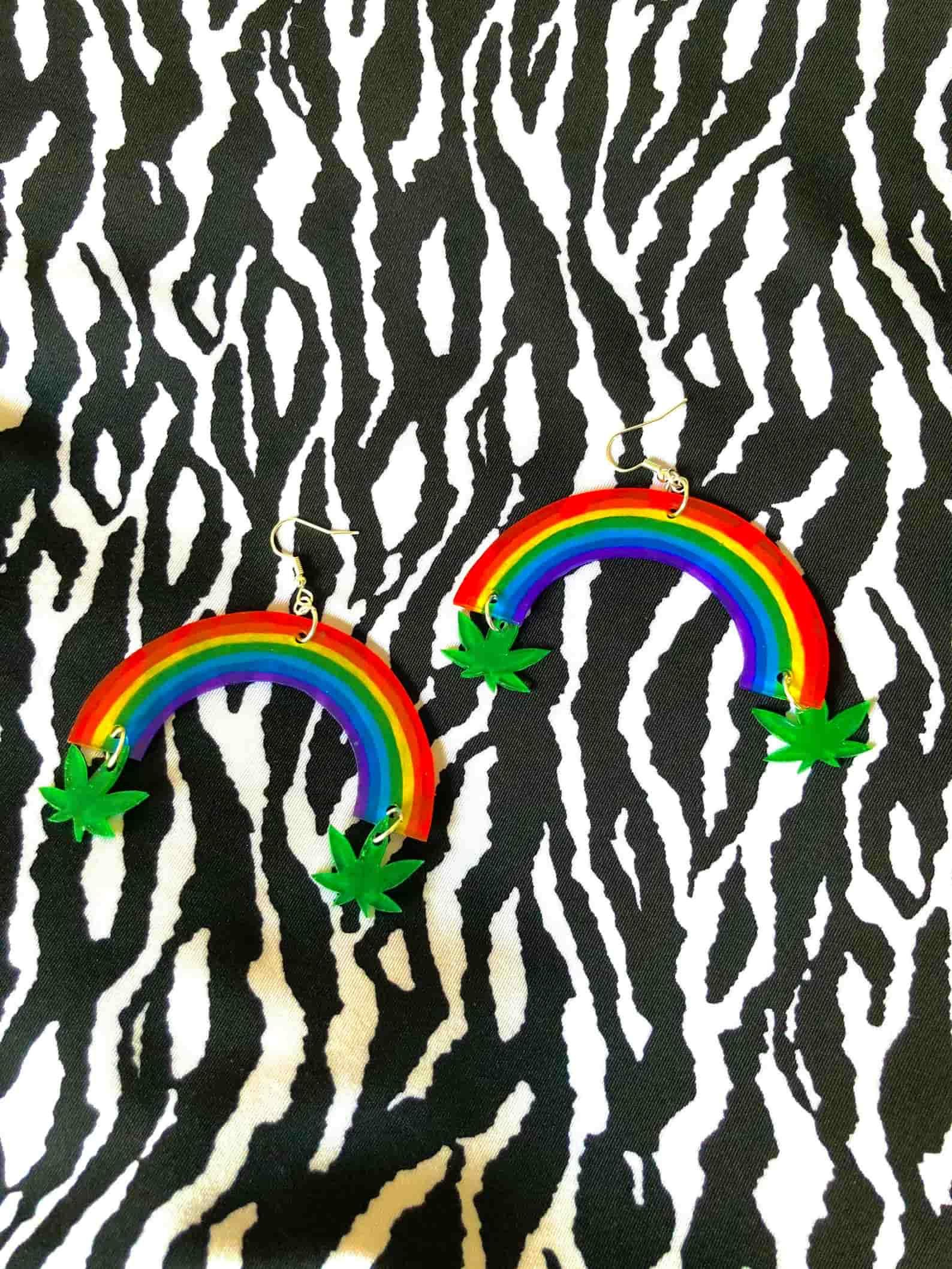 queer dream rainbow earrings