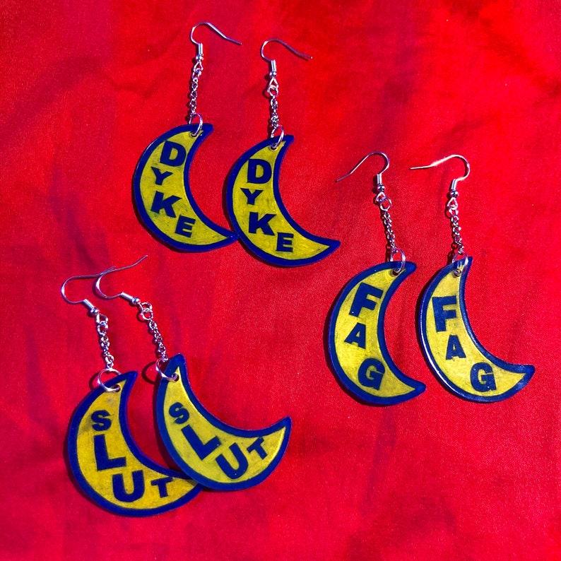 queer dream banana earrings