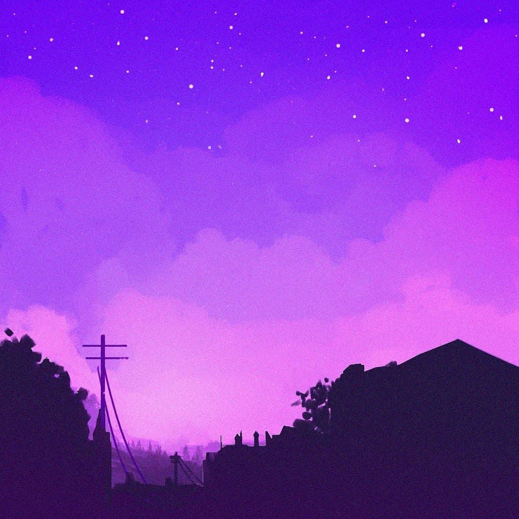 star plasma art purple sky