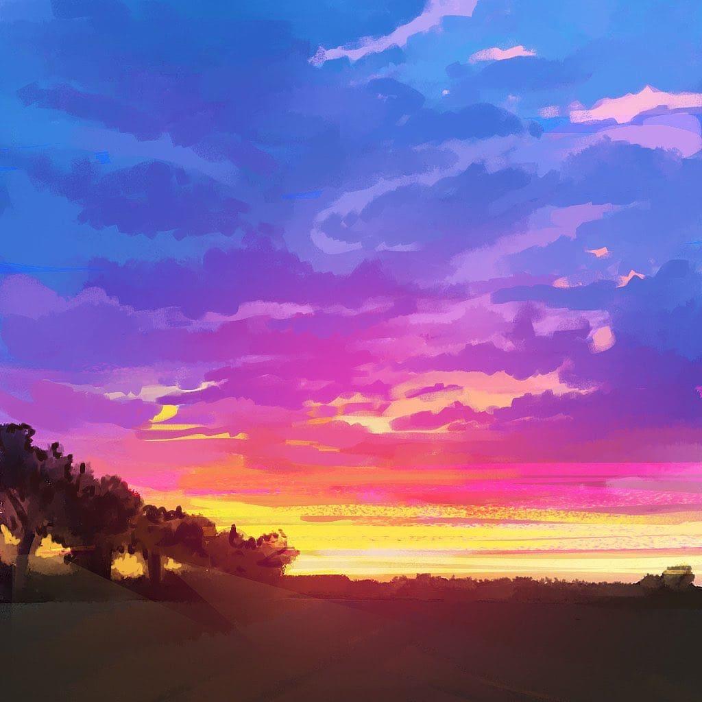 star plasma art colorful sky