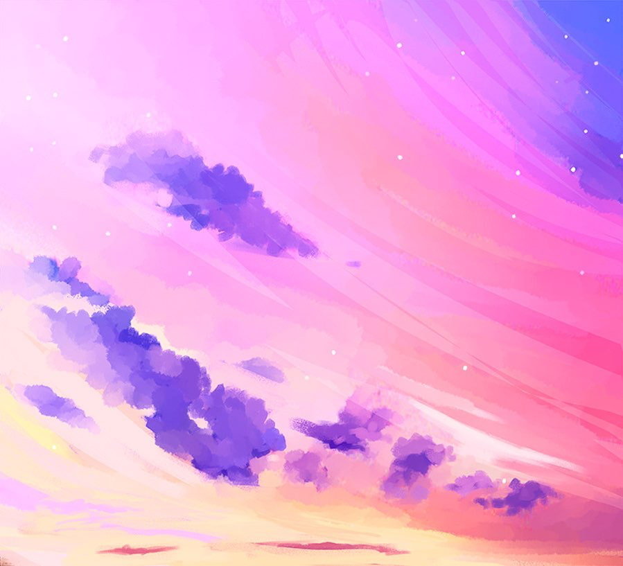 star plasma art pink sky