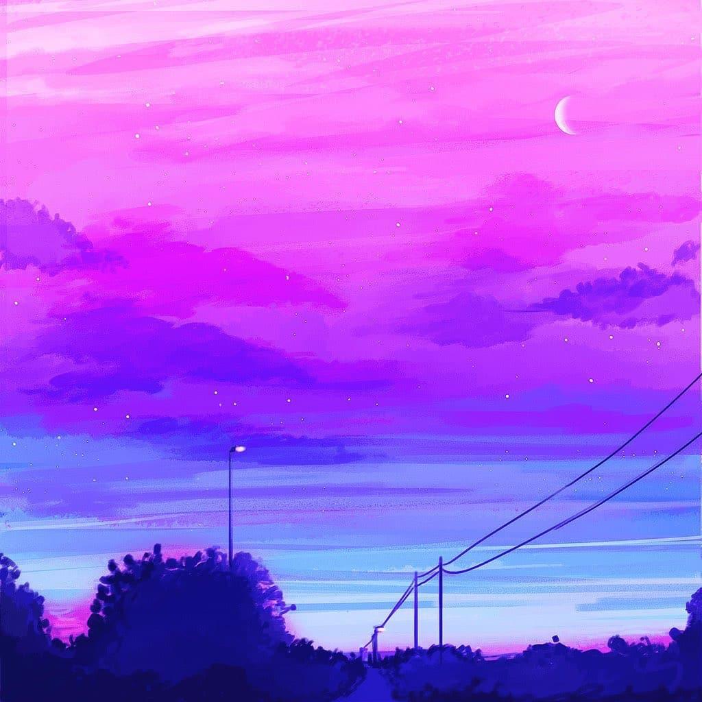 star plasma art bisexual flag sky