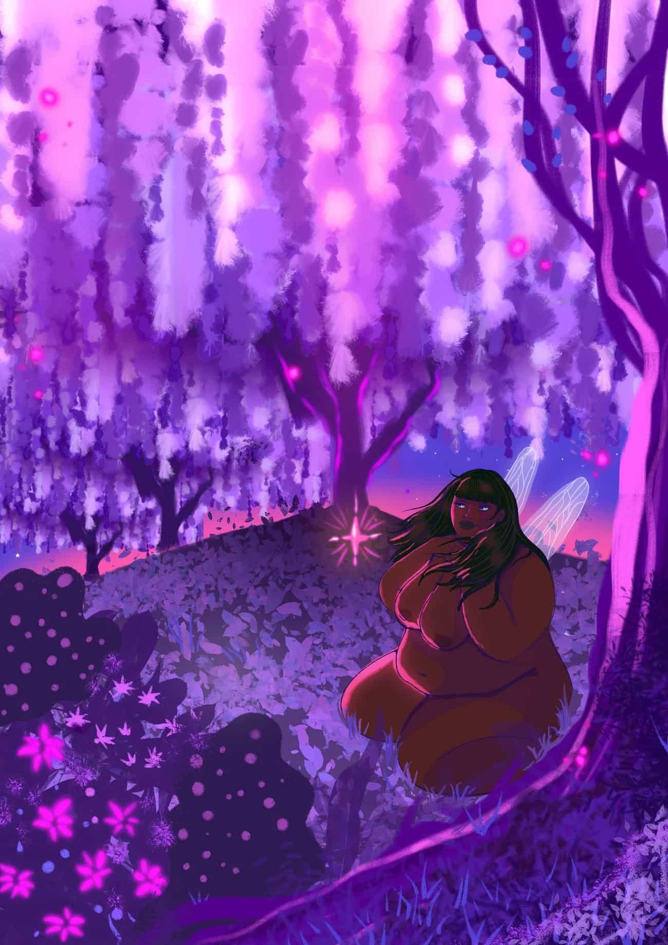 katydid these purple fairy