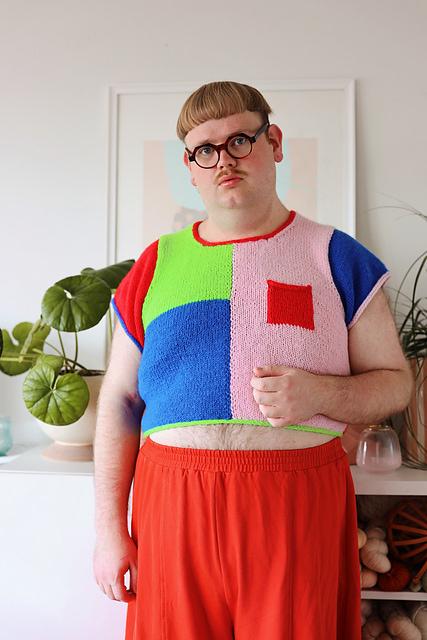 james watts knitting tshirt