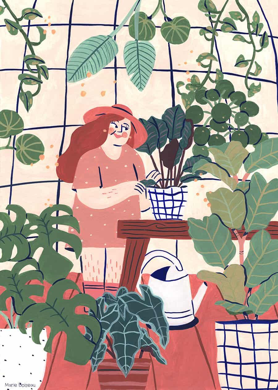 Marie Boiseau jardinière