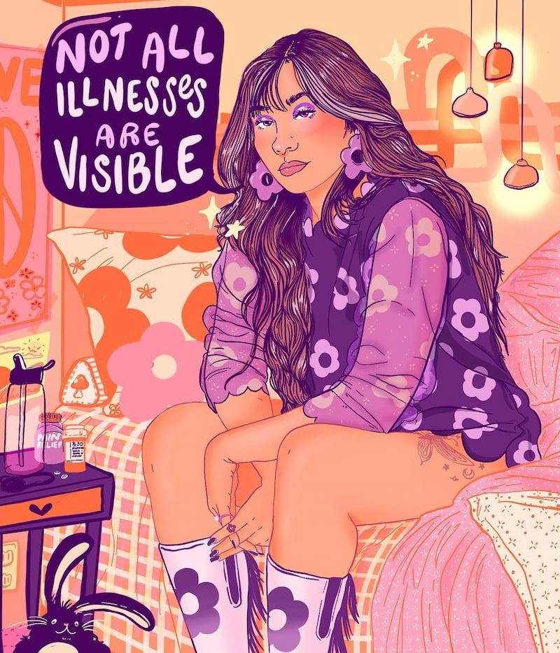 liberal jane illness illustration