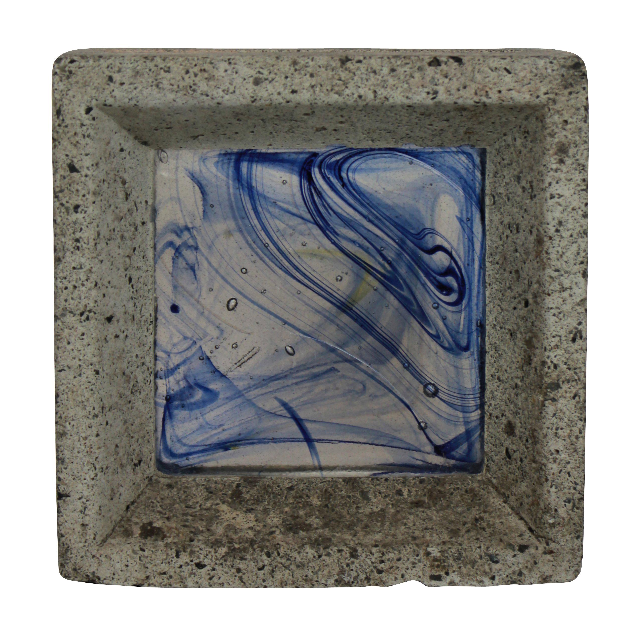 A WHITEFRIARS GLASS BRICK