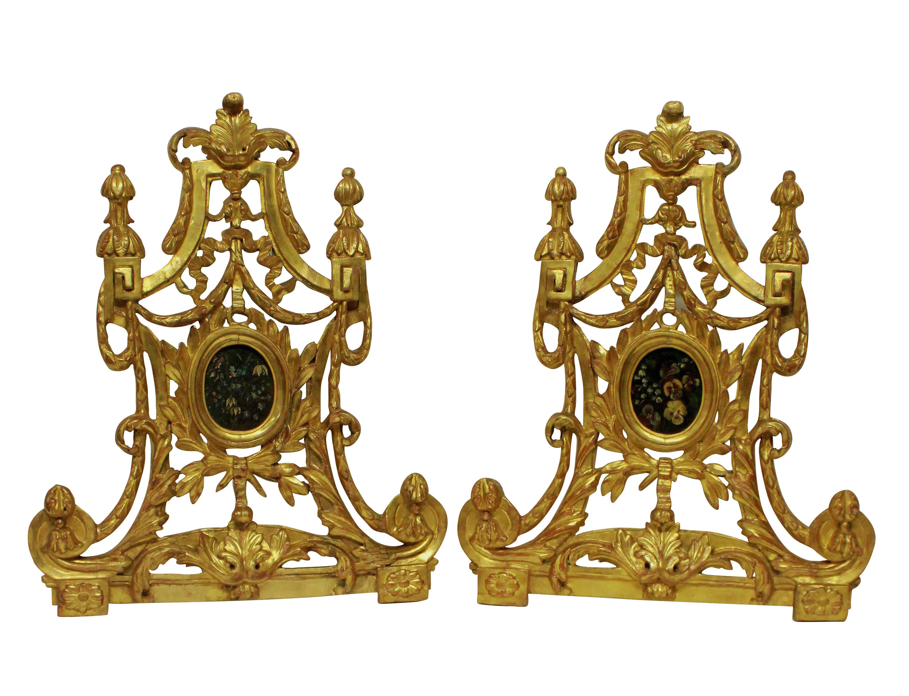 A PAIR OF LARGE XVIII CENTURY ITALIAN RELIQUARIES