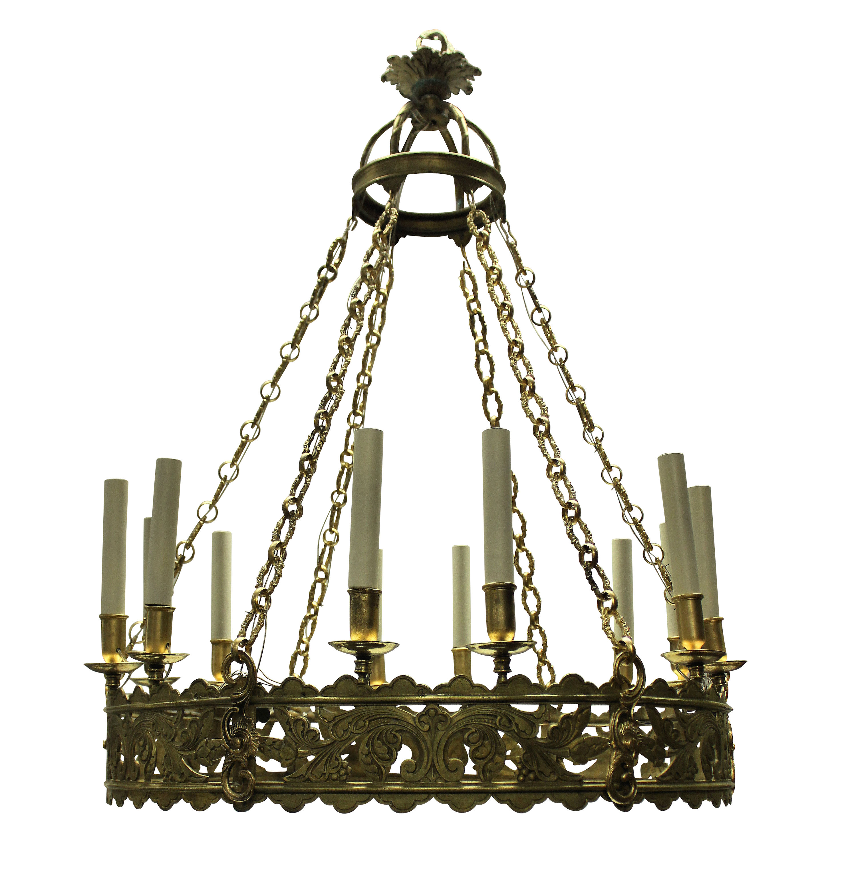 A LARGE GOTHIC CORONA CHANDELIER
